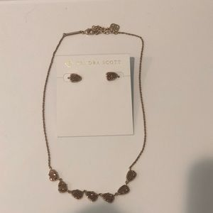 Kendra Scott drusy Susanna necklace and earrings